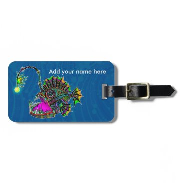 Beach Themed Electric Angler Fish Bag Tag