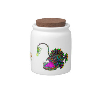 Electric Angler Fish Candy Jars