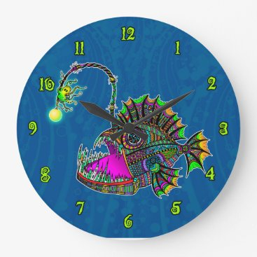 Beach Themed Electric Angler Fish Clock