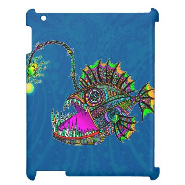Beach Themed Electric Angler Fish Cover For The iPad