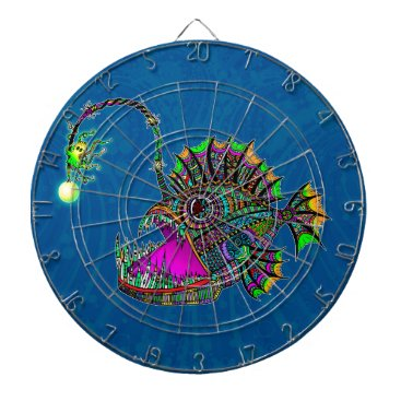 Beach Themed Electric Angler Fish Dart Boards