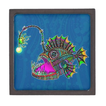 Beach Themed Electric Angler Fish Gift Box