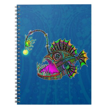 Beach Themed Electric Angler Fish Notebook