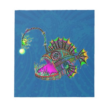 Beach Themed Electric Angler Fish Notepad