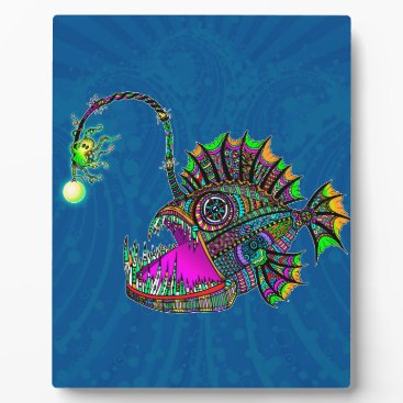 Beach Themed Electric Angler Fish Plaque