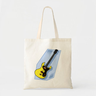 Electric Bass Graphic Yellow with blue back Tote Bag