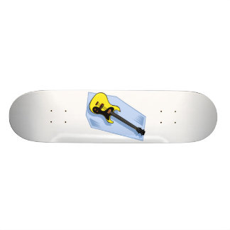 Electric Bass Graphic Yellow with blue back Skateboard