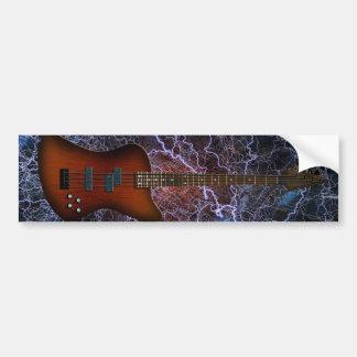 Electric Bass Guitar Bumper Sticker