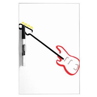 Electric Bass Guitar Dry Erase Board