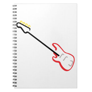 Electric Bass Guitar Notebook