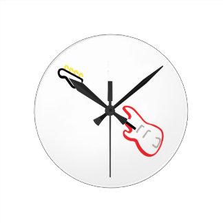 Electric Bass Guitar Round Clock