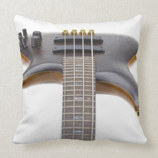 Electric Bass Guitar Throw Pillow