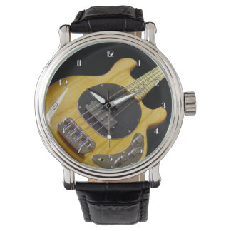 Electric Bass Guitar Wrist Watch
