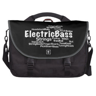 Electric Bass Word Cloud Bag For Laptop