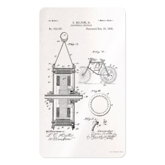 ELECTRIC BICYCLE PATENT CIRCA 1895 BUSINESS CARD