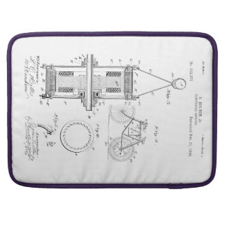 ELECTRIC BICYCLE PATENT CIRCA 1895 SLEEVE FOR MacBook PRO