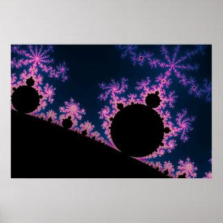 Electric Blossom - Fractal Poster