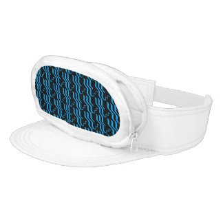 ELECTRIC BLUE ABSTACT visor