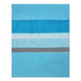 'Electric' Blue Abstract Art Poster