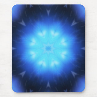 Electric Blue Abstract Mouse Pad