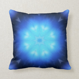 Electric Blue Abstract Pillow