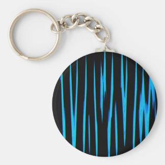 ELECTRIC BLUE (an abstract art design) ~ Keychain