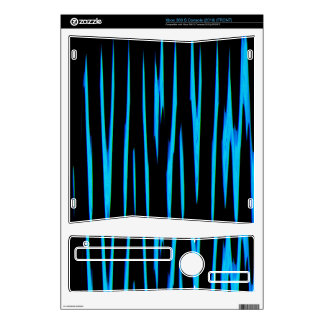 ELECTRIC BLUE (an abstract art design) ~ Xbox 360 S Console Skins
