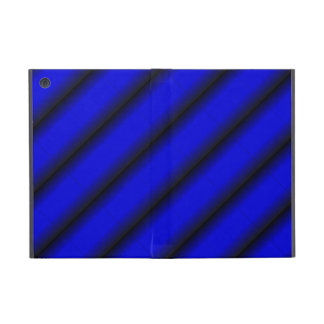 Electric Blue and Black Stripe Cover For iPad Mini