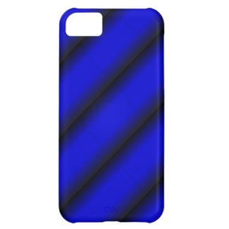 Electric Blue and Black Stripe iPhone 5C Cases