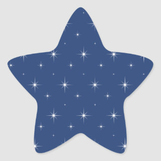 Electric Blue And Bright Stars - Elegant Pattern Star Sticker