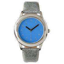 Electric Blue and Silver Wrist Watch