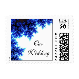 Electric Blue Branches Postage