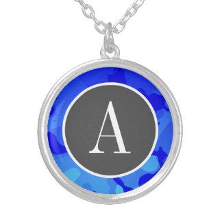 Electric Blue Camo; Camouflage Custom Necklace