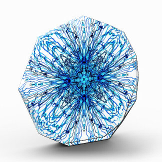 Electric Blue Candle Sheild Mandala Award