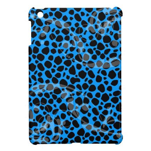 Electric Blue Cheetah Pattern iPad Mini Cases