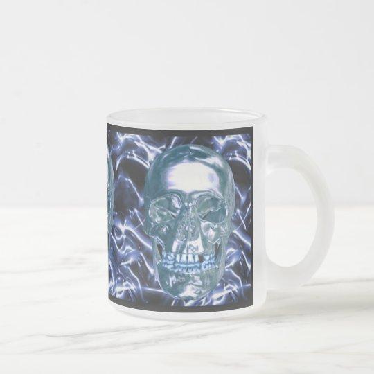 Electric Blue Chrome Skull Mug