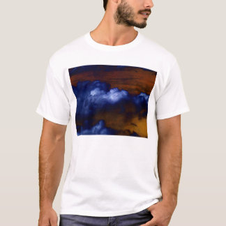 Electric Blue Cumulus humilis and Dark Gold Sky by T-Shirt
