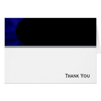 Electric Blue Curve Greeting Card