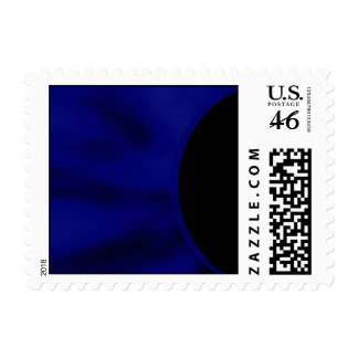 Electric Blue Curve Stamp