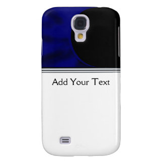 Electric Blue Curve Samsung S4 Case