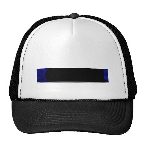 Electric Blue Curve Trucker Hat
