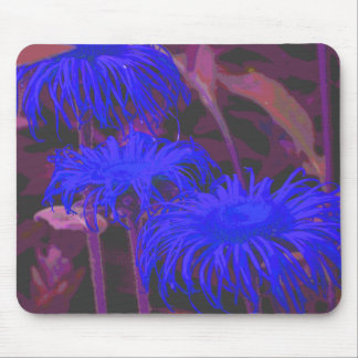 Electric Blue Daisies Mouse Pads