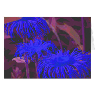 Electric Blue Daisy Cards