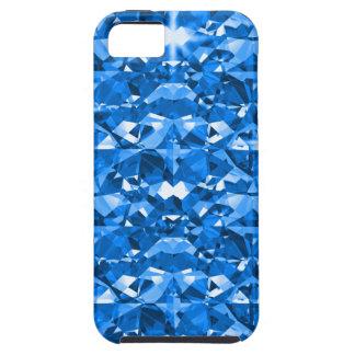 Electric Blue Diamonds iPhone 5 Case