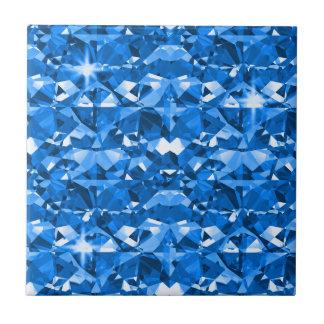 Electric Blue Diamonds Small Square Tile