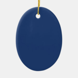 Electric Blue - Elegant Fashion Color Pattern Christmas Ornaments