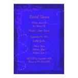 "Electric Blue Floral Bridal Shower Invite 5"" X 7"" Invitation Card"