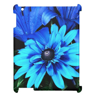 Electric Blue Flowers Case For The iPad 2 3 4