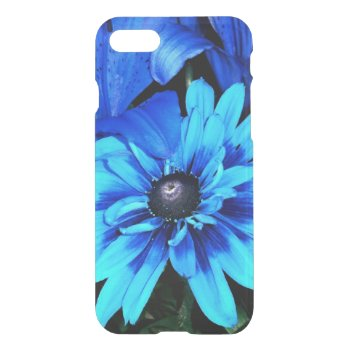 Electric Blue Flowers iPhone 7 Case