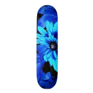 Electric Blue Flowers Skateboard